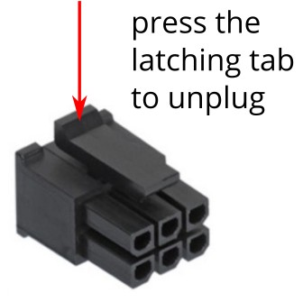 Latched connector
