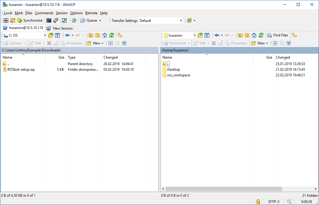 WinSCP file manager